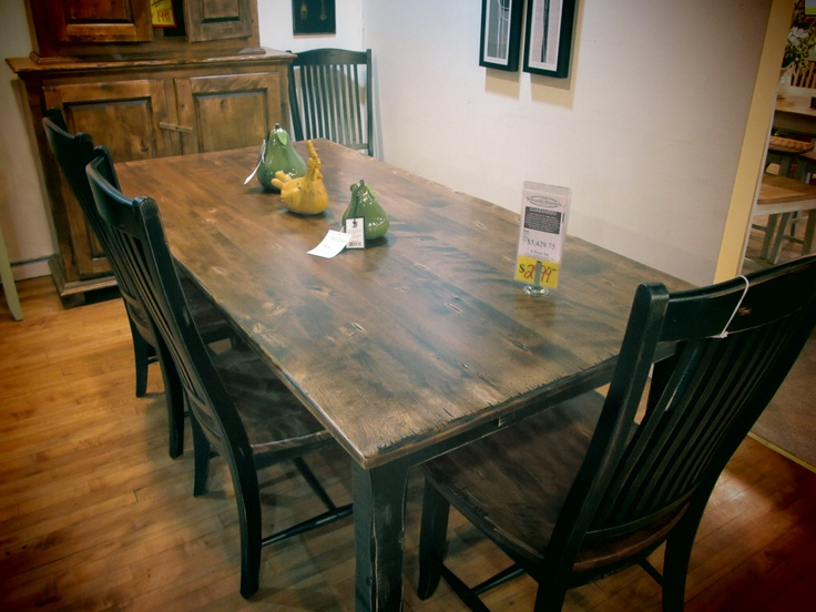 We All Love This Farmhouse Table From Canadel It Has A Unique Look And Looks Great