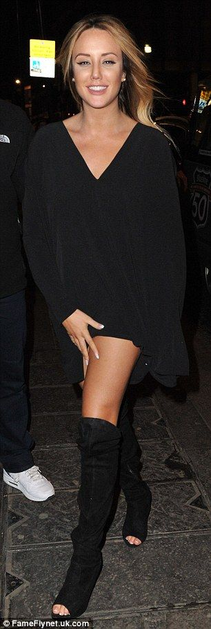 Sexy and she nose it! The one-time Celebrity Big Brother champ made sure to debut her new nose in style as she hit the town in a tiny black dress, which also boasted a low-cut neckline