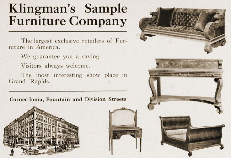 Klingmanu0027s Sample Furniture Co., Grand Rapids, Michigan Retail Furniture  Dealer 1896 Present