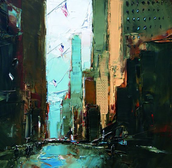 Multi-Textured Paintings of New York - My Modern Metropolis