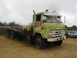 abandoned old nissan diesel truck