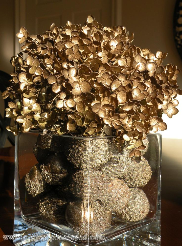 these hydrangeas almost look gold...gorgeous