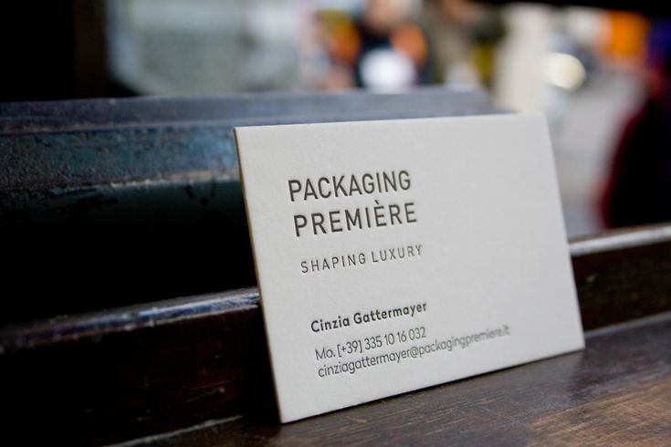 Business card for Packaging Première / by Tipografia Pezzini #letterpress