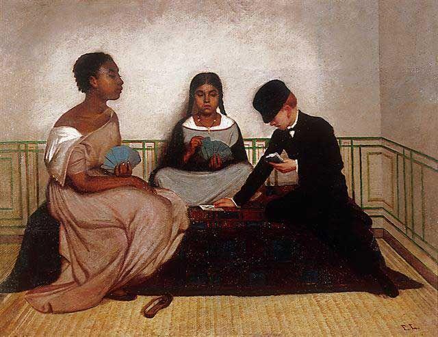 El arte en el Perú - MALI  Francisco Laso. Las tres razas o La igualdad ante la ley, c. 1859 Óleo sobre lienzo, 81 x 106 cm Fondo de Adquisiciones