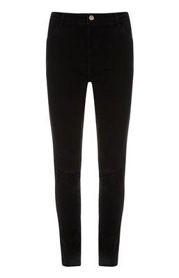 Zwarte lage jeans met scheuren