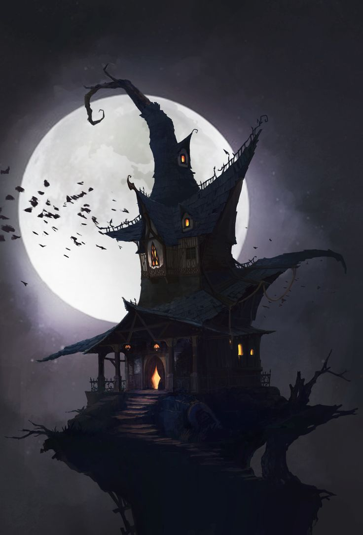 The witch house (2016.11), K M on ArtStation at https://www.artstation.com/artwork/2zEzK