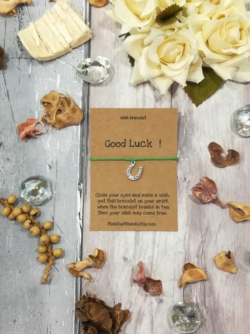 Good Luck Wish Bracelet Wish Bracelet Good Luck Charm Four