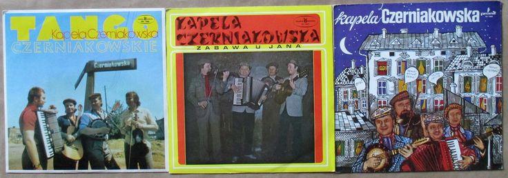 KAPELA CZERNIAKOWSKA - 3 PŁYTY:  1. Tango Czerniakowskie , SXL 1022, Polskie Nagrania, 1974 /   2. Zabawa u Jana, SX 1637, Polskie Nagrania, 1978 /   3. Kapela Czerniakowska, SX 1999, Pronit, 1980 /  -płyty vinyl, longplay  używane- stan b.dobry/EX Cena / price: 48 zł/ 12 EUR