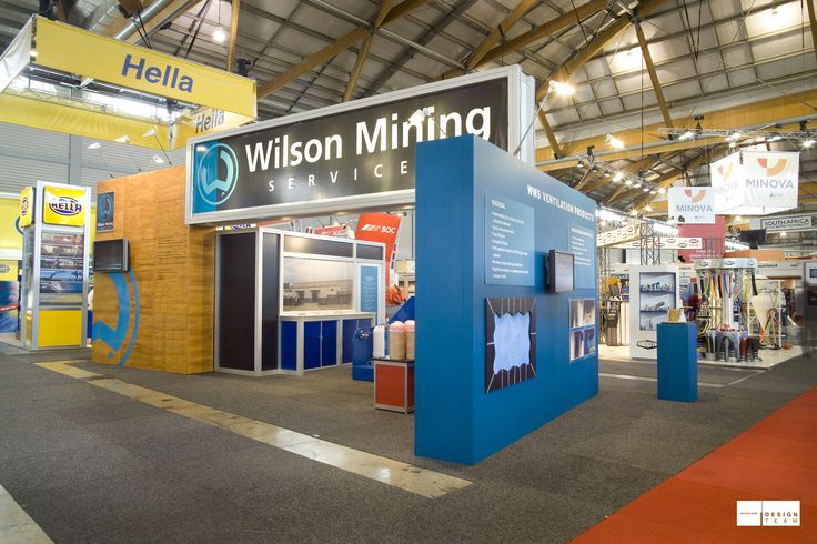 WILSON MINING @ AIMEX Visitors are welcomed to this stand with a central reception and refreshments area. This stand allows for ample graphic displays with a private meeting area cleverly concealed