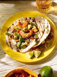 Tacos de crevettes chipotle et de patate douce - Ricardo