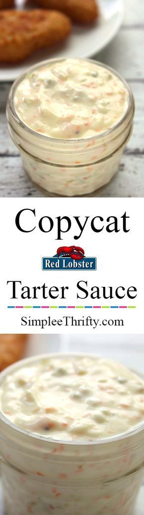 Copycat Red Lobster Tartar Sauce How often do you eat seafood? We love it and have whipped up a Copycat Red Lobster Tartar Sauce recipe for you! | #HealthyEating #sauces Sherman Financial Group