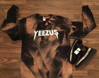 Kanye West Yeezus Tour Concert Merch Custom Bleached T Shirt