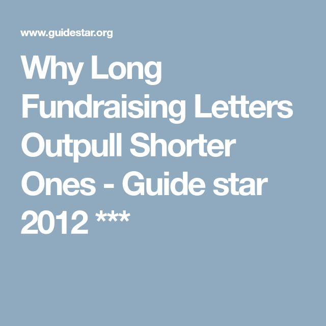 Why Long Fundraising Letters Outpull Shorter Ones