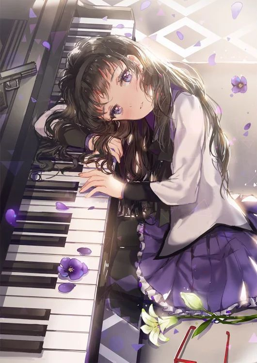 Life is like a piano. White keys are happy moments and the black ones are sad moments. Both keys are played together to give us the sweet music