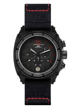 The MTM Special Ops Black Red Predator II Watch is a durable and rugged watch for men. Customize & shop for your tactical military watch with MTM.