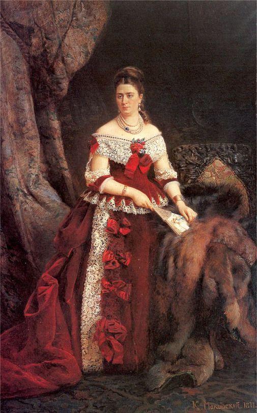 Konstantin Makovsky (Russian, 1839-1915) - Portrait of Countess Vera Zubova, 1877