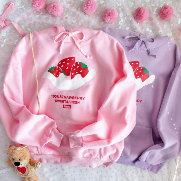 strawberry print hoodie boogzel apparel