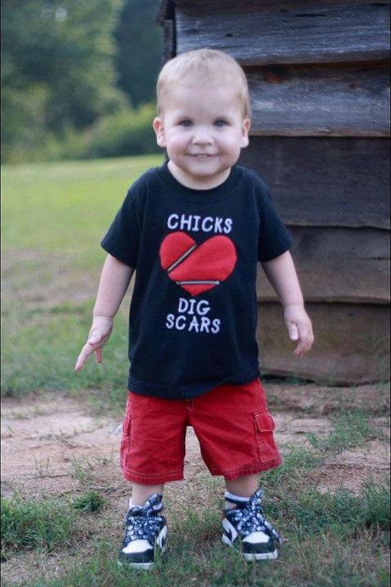 Need to get this for my favorite super hero, my nephew....CHD Chicks/Dudes Dig Scars Shirt by sociallydistorted on Etsy, $27.00