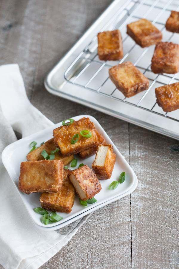 Crispy Marinated Tofu | BourbonandHoney.com -- Spicy and savory, this Crispy Marinated Tofu is a flavorful and delicious way to serve a vegetarian favorite.