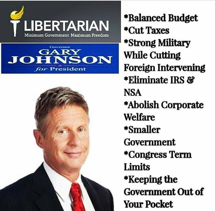 Libertarian Gary Johnson for President. 2016. Bill Weld Vice President. POTUS. VP.