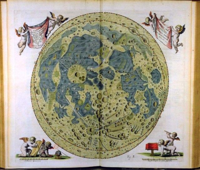 Moon maps since the 17th century