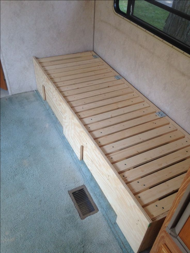 DIY Camper Couch/Bed with storage. Photo 1