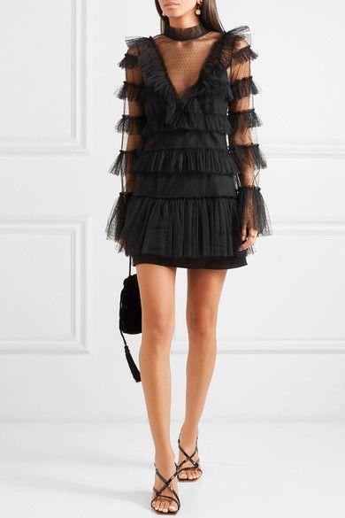 838b826baf25 alice McCALL | The Zen tiered Swiss-dot tulle mini dress | NET-A-PORTER.COM