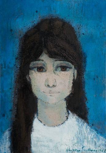 """CHRISTINA SNELLMAN, """"ELENITA"""". Sign. 1968. Öljy kankaalle, 55x39 cm."""