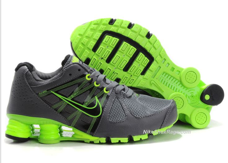 Womens Charcoal and Lime Green Nike Shox Turbo 2... love!