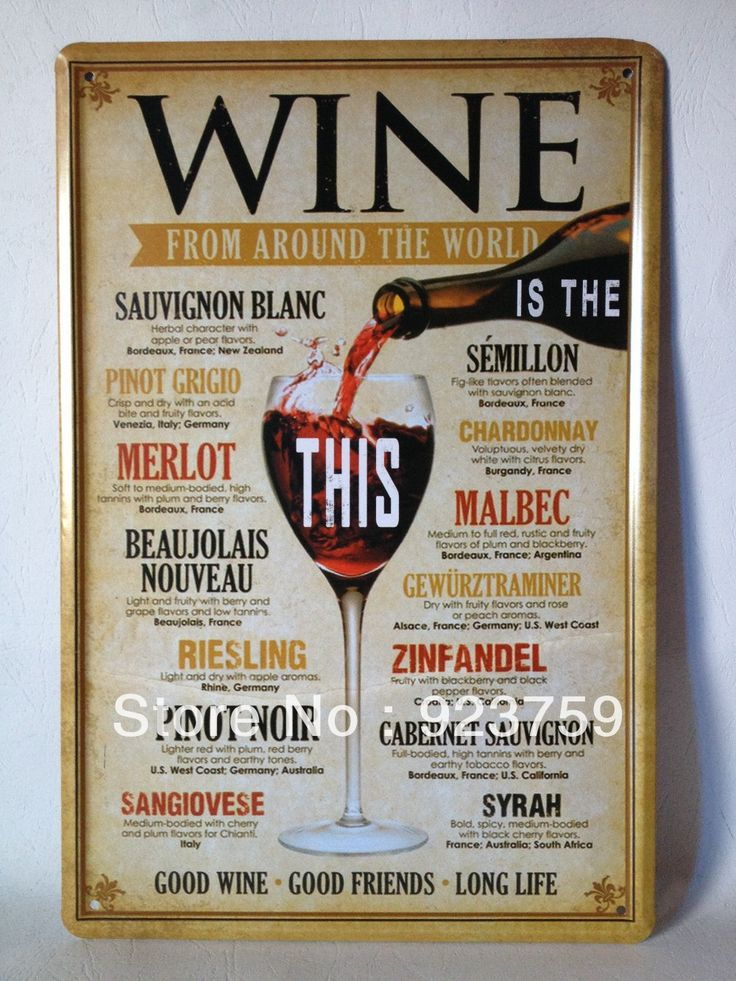 Wine around the world Tin Sign Bar pub home Wall Decoration Retro Metal Art Poster-in Wall Stickers from Home & Garden on Aliexpress.com