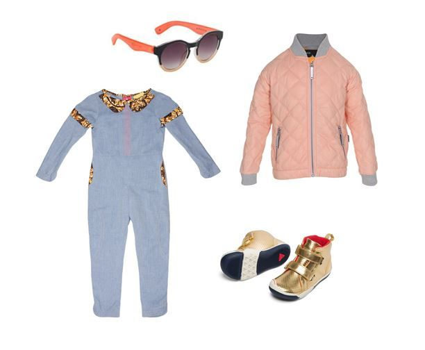 'Spring Style!' Sunnies: Molo Pink Jacket: Molo Playsuit: Isossy Children Shoes: Plae UK #alegremedia