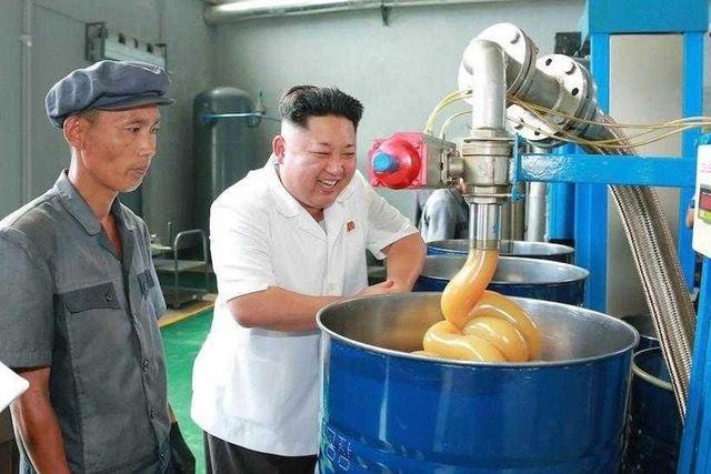 Ps Battle: Kim Jong Un Happy At A Lubricant Factory
