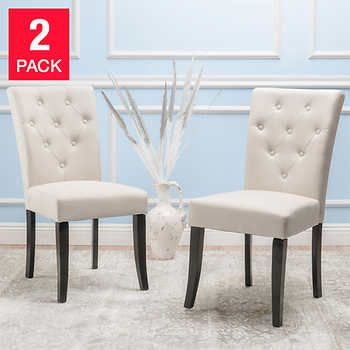 Maddon Beige Chair 2 Pack