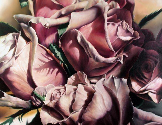 Rosenkrieg, 180cm x 140cm, Öl-/Harzölfarben auf Leinwand