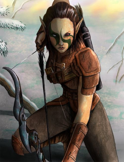 """we-are-rogue:  Euridis, the beginning by Nekromantics """"My character in Skyrim, Eürïdis, at the Thieves Guild."""""""