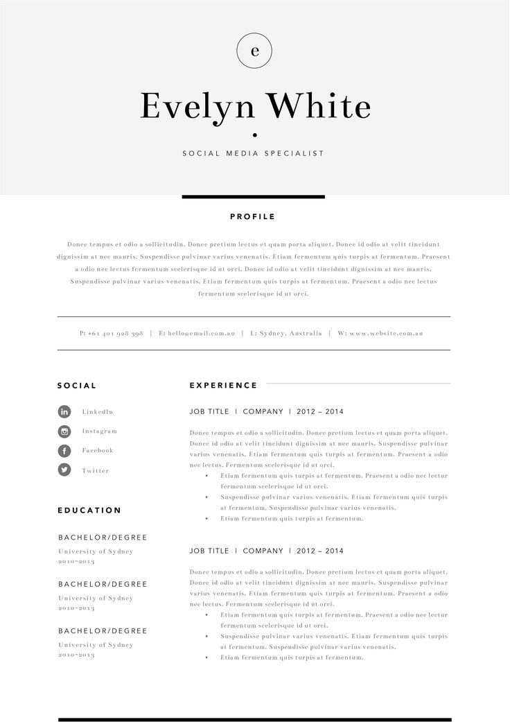 280 best Resume images on Pinterest Curriculum, Resume and Resume cv - eit on resume
