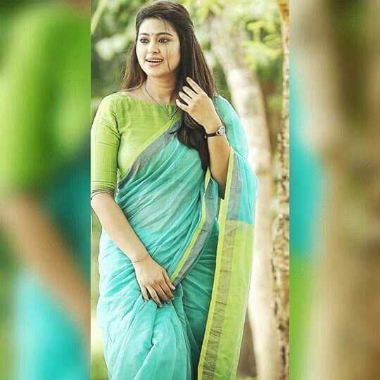 Actress Sneha in saree