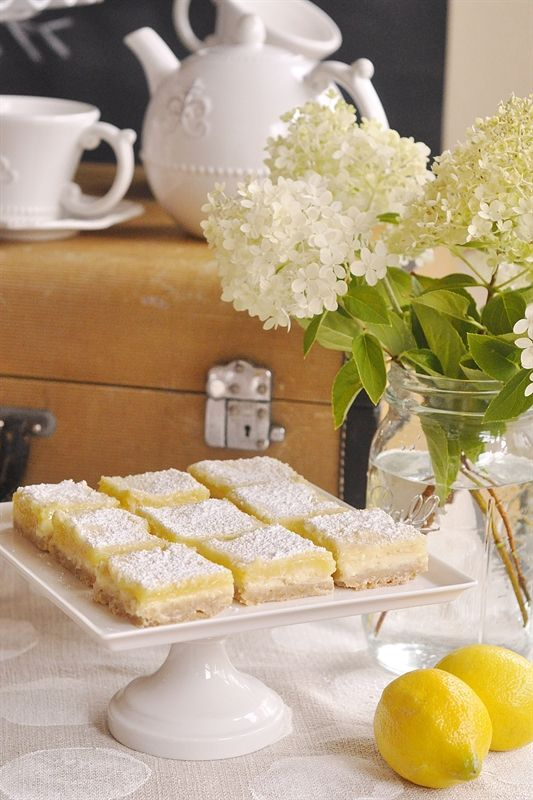 Lemon Cheesecake Bars - love these. I made them for a wedding. Ate 3 of these before the wedding started.
