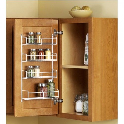 Use a hanging rack inside the cabinet drawer for holding spices  25 Best Ways to Organize Spices (Storage Solution) - Craftionary
