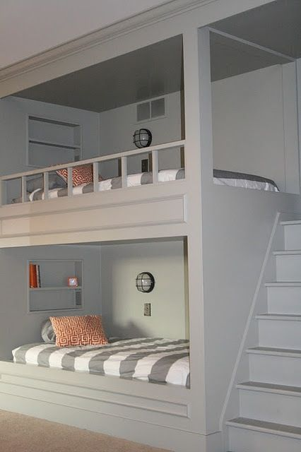 Love the idea but instead of bunk beds maybe a lounge area underneath