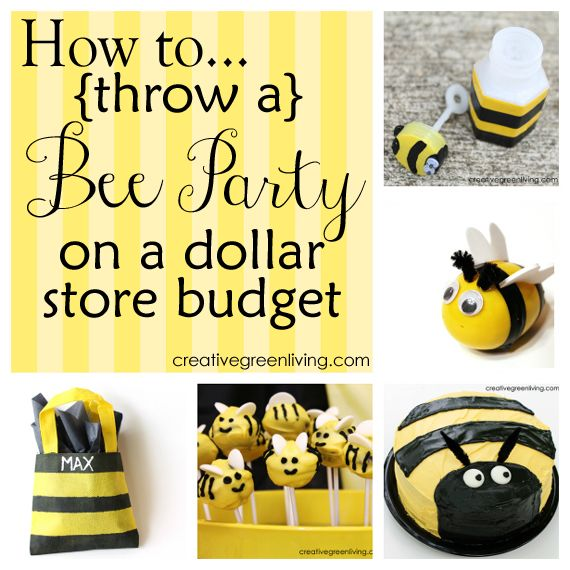 16 great bee party ideas. Perfect for a birthday party or baby shower - most of the supplies came from the dollar store!
