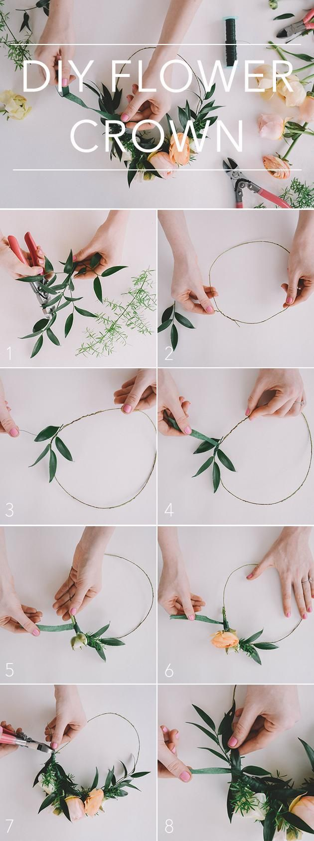 76 best floral crowns for weddings images on pinterest bridal how to diy a flower crown for your wedding day brides izmirmasajfo Images