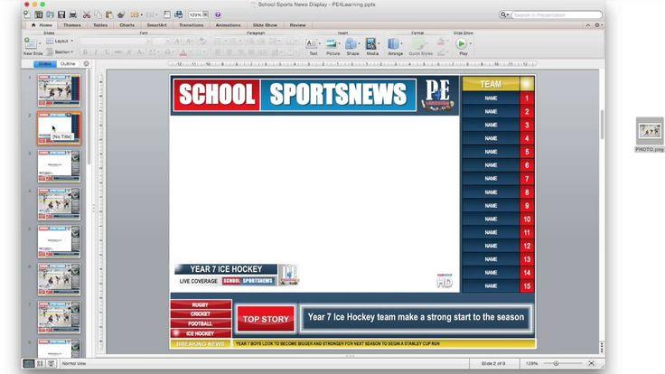 School Sports News HD Display Poster - PE4Learning