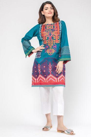 606281874f Embroidered Kurta - Khaadi PK | Pakistani Brands- Lawn, Cotton ...