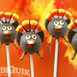 Turkey Cake Pops! Gobble! Gobble! Awesome and deelish