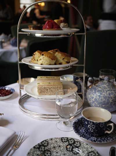 Afternoon tea at Dean's Townhouse, Soho, London.