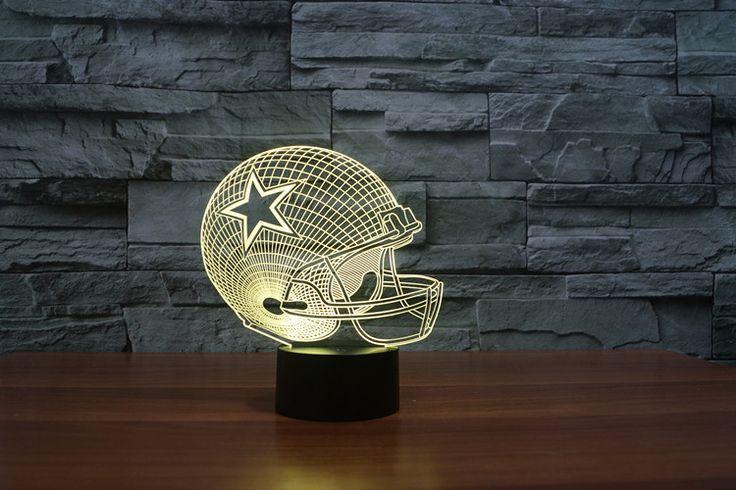 Dallas Cowboys Football Helmet 3D Light 7 Color Night Light