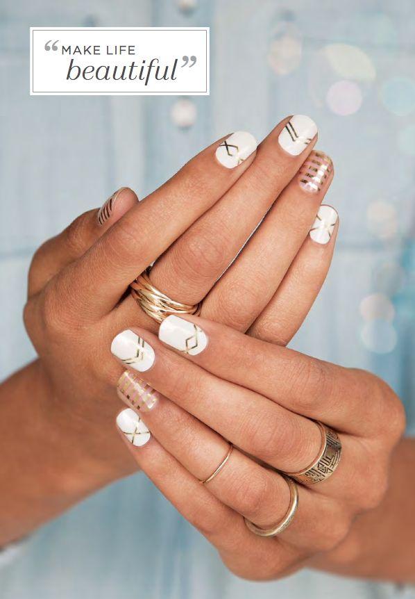 Jamberry Nails - #gatsby #metallicgoldstripe