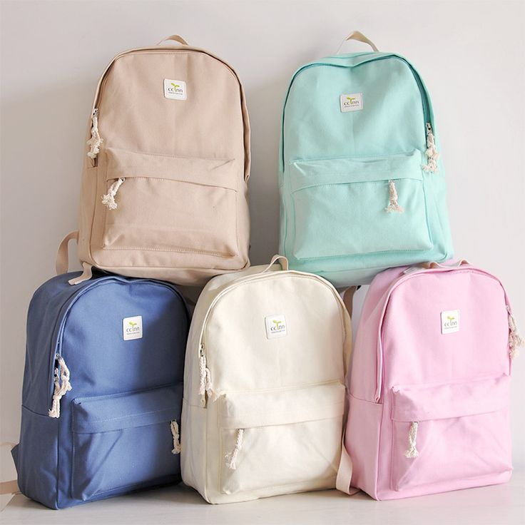 Students canvas backpack