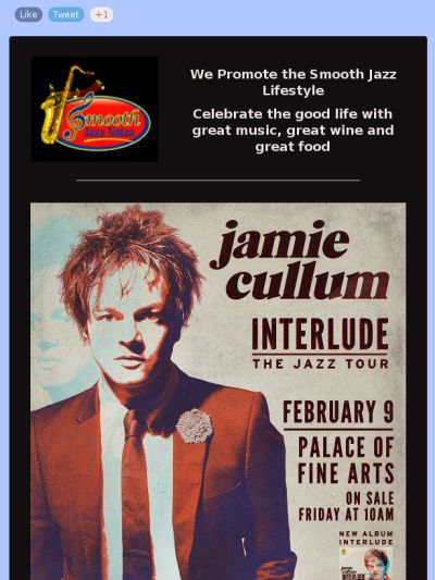 Jamie Cullum at the Palace of Fine Arts in San Francisco, CA on February 9, 2015.